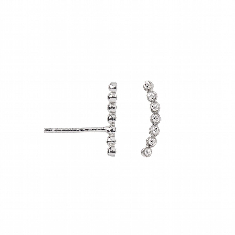 Silver Dots Earring Piece Silver Left-20