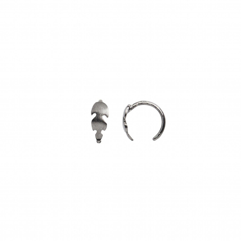 Petit Feather Earring Piece Black-20