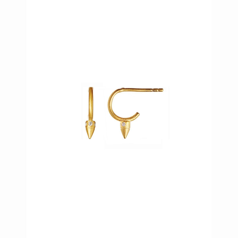Petit Toupie w/Zircons Creol Earring Piece Gold-20