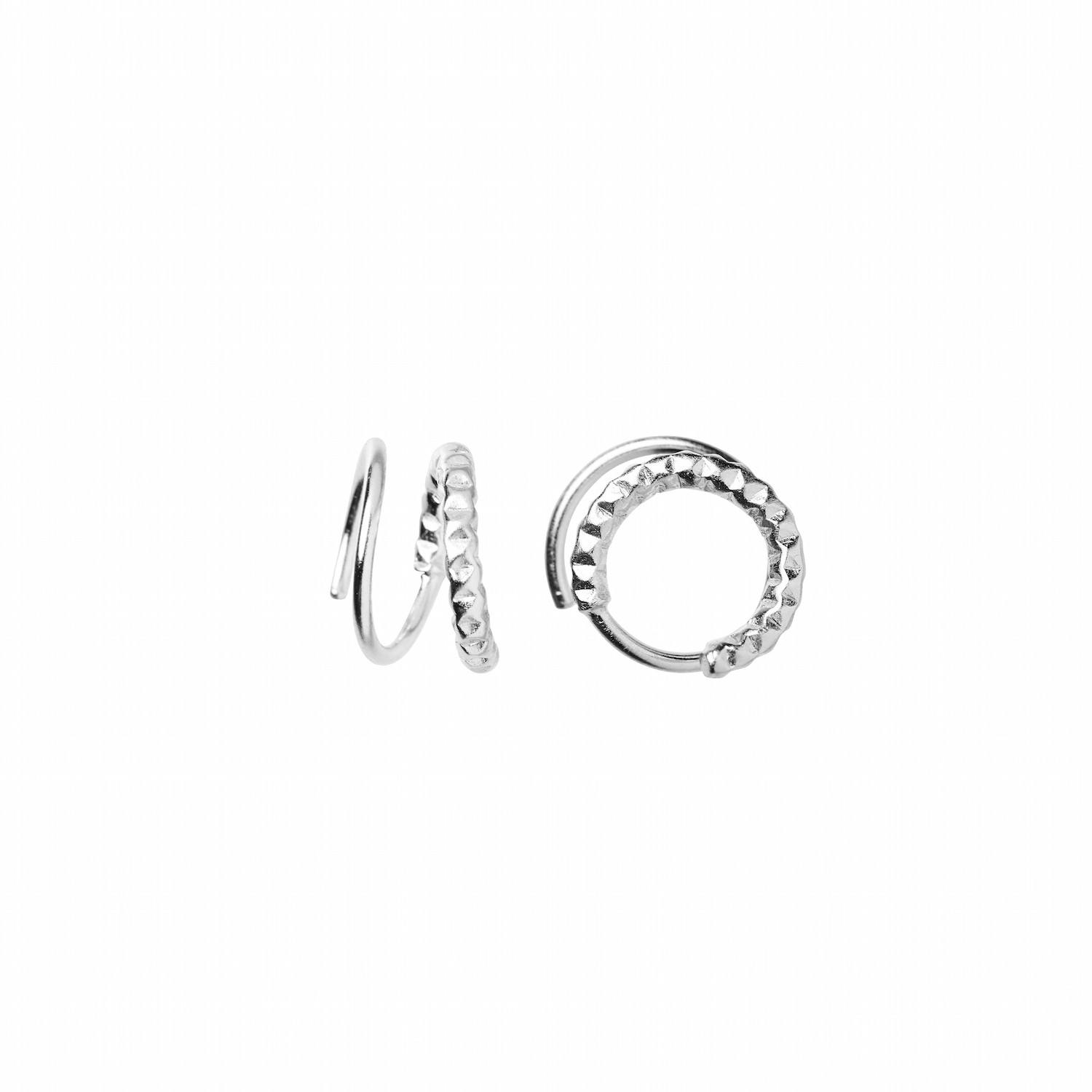 Tinsel Curl Earring Piece Left Silver-20