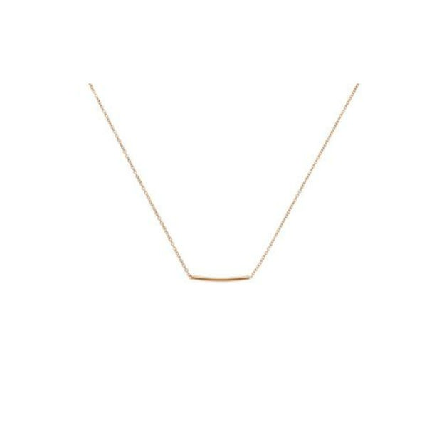 Pipe Necklace Gold-20