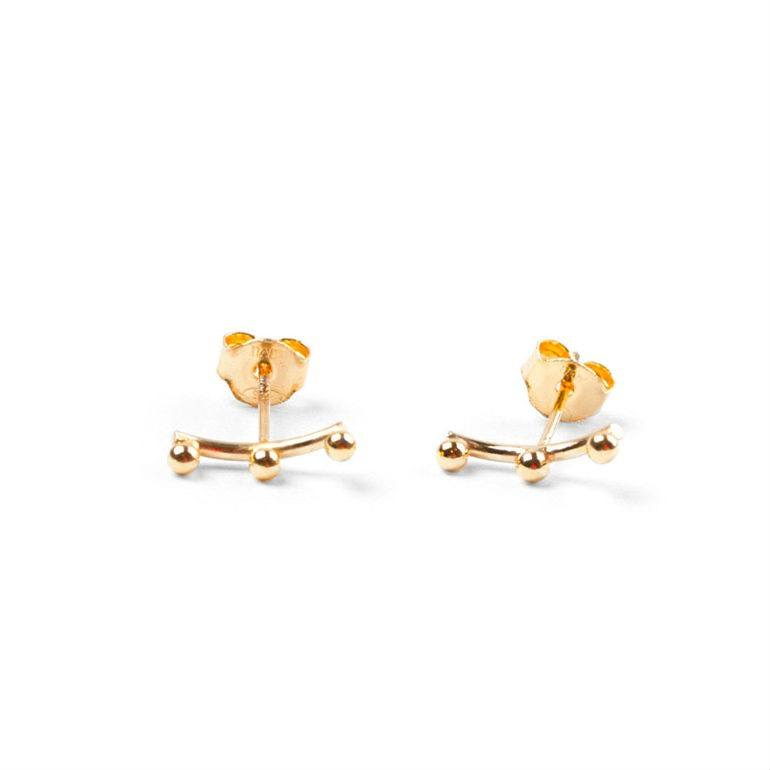A.L. Ear Stud Gold-20