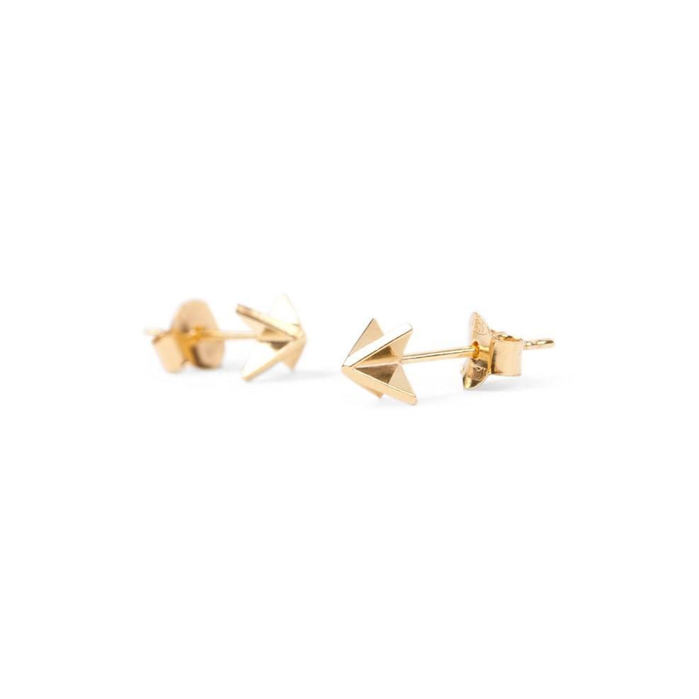 X Ear Stud Gold-20