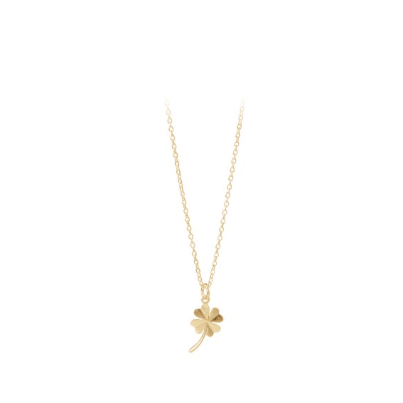 Clover Necklace Forgyldt-20