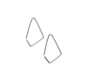 Facet øreringe sølv-20