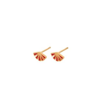 Flare Red Earsticks Forgyldt-20