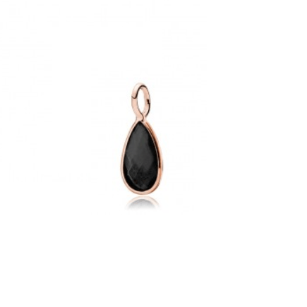 Gem Drop Black Onyx pendant Rosa Forgyldt-20