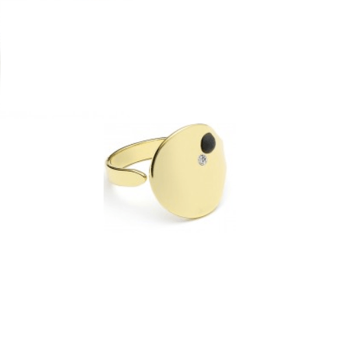 Microdot Diamond ring Guld-20