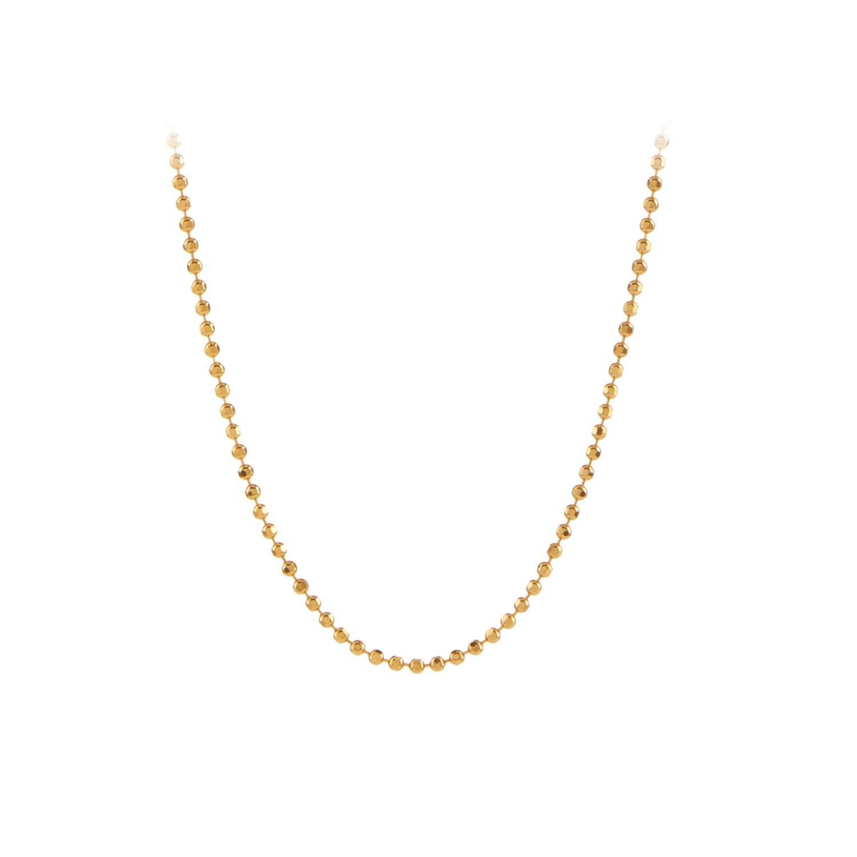 Facet Plain Necklace 50 cm Forgyldt-20