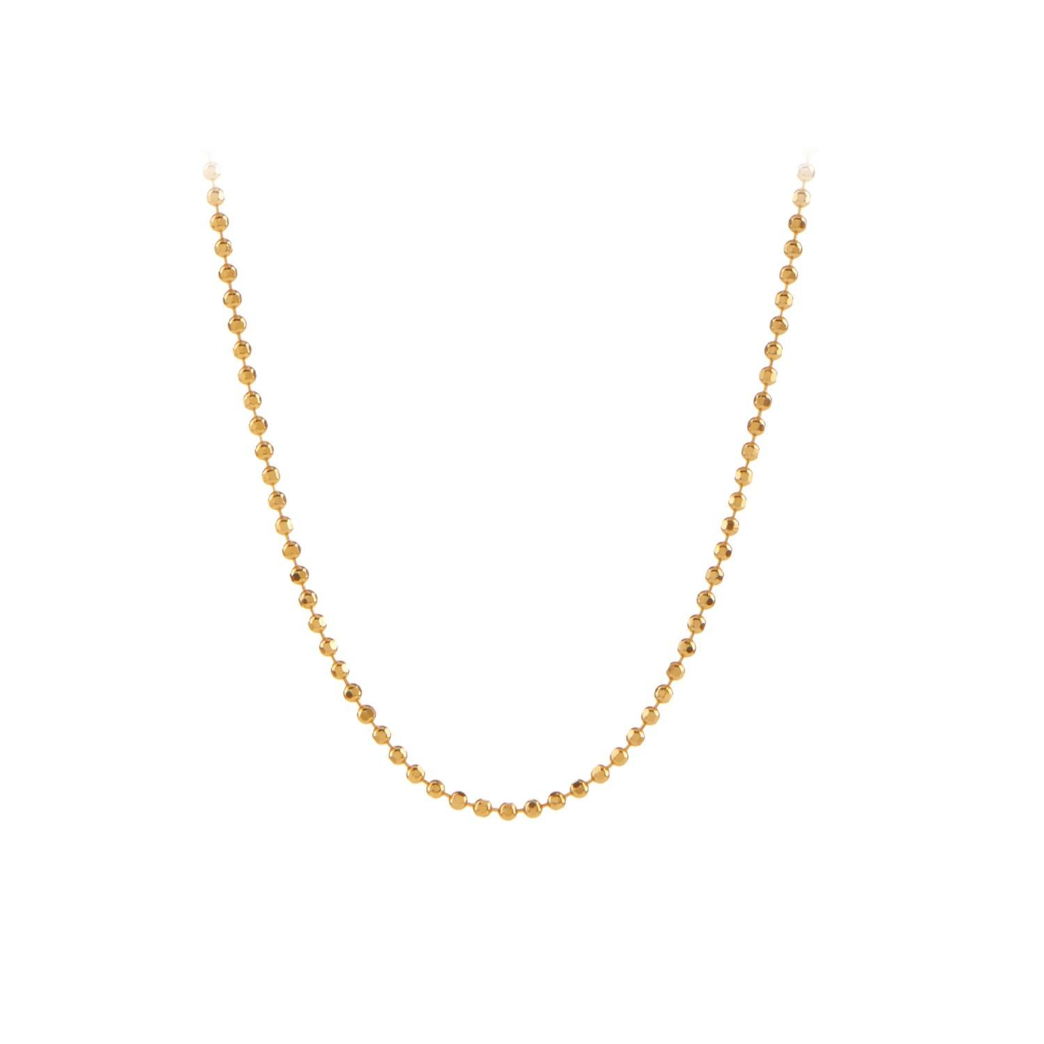 Facet Plain Necklace 80 cm Forgyldt-20