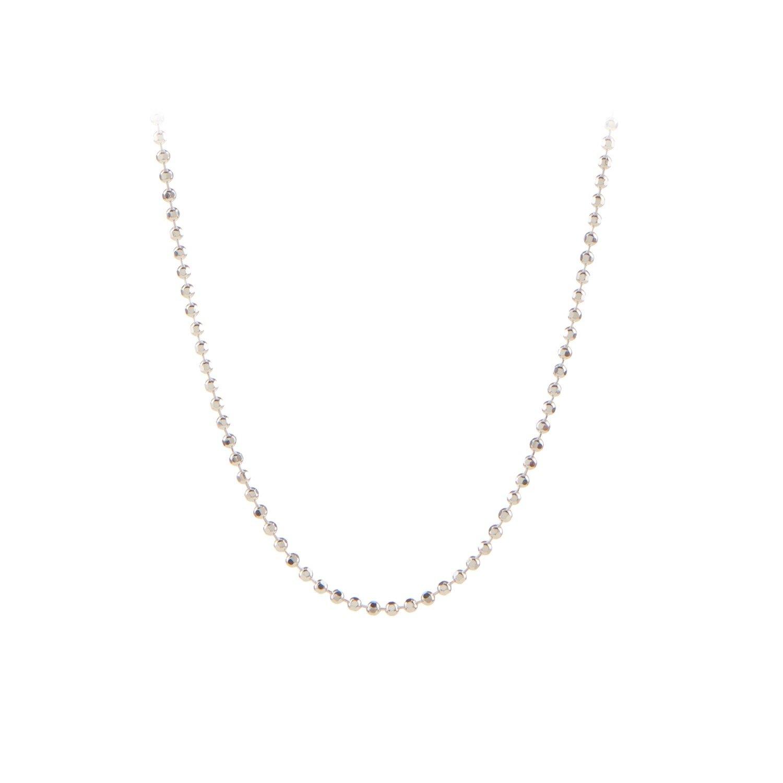 Facet Plain Necklace 80 cm Sølv-20