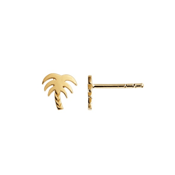 Petit Palm Earring Forgyldt-20