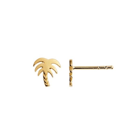 Petit Palm Earring Forgyldt-20