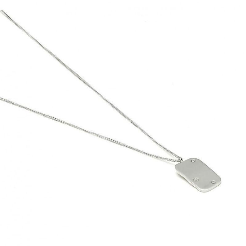 Raw Diamond Halskæde Sølv-20