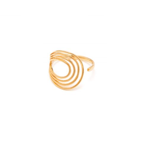 Spiral 0402 Ring Forgyldt-20