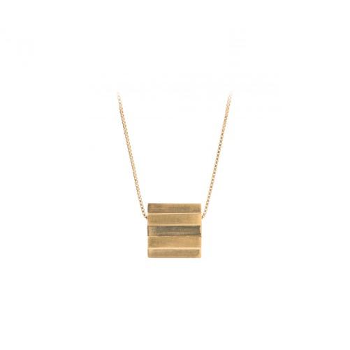 Stripe Necklace Forgyldt-20