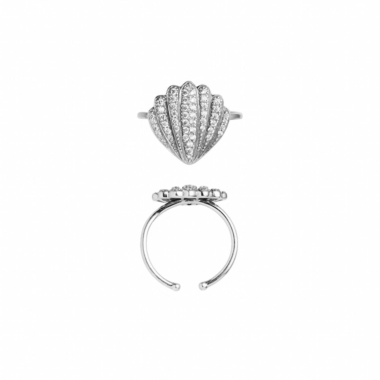 Vintage Shell w/Zircons Ring-20