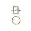 Stine A Vintage Square Ring W/Zircons Forgyldt og Sølv-10