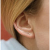 Curved Ear Stud Silver-05