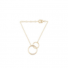 Double Plain Bracelet Forgyldt-01