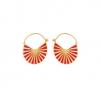 Pernille Corydon Flare Red Earrings Forgyldt-01