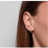 Jukserei Pyramid Ear Stud Silver-05