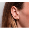 X Ear Stud Gold-05