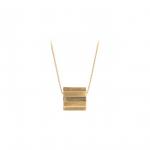 Stripe Necklace Forgyldt-10