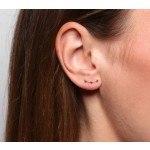 A.L. Ear Stud Gold-05