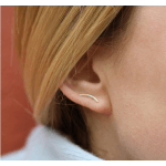 Curved Ear Stud Gold-05