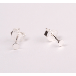 Punkt Ear Stud Silver-01